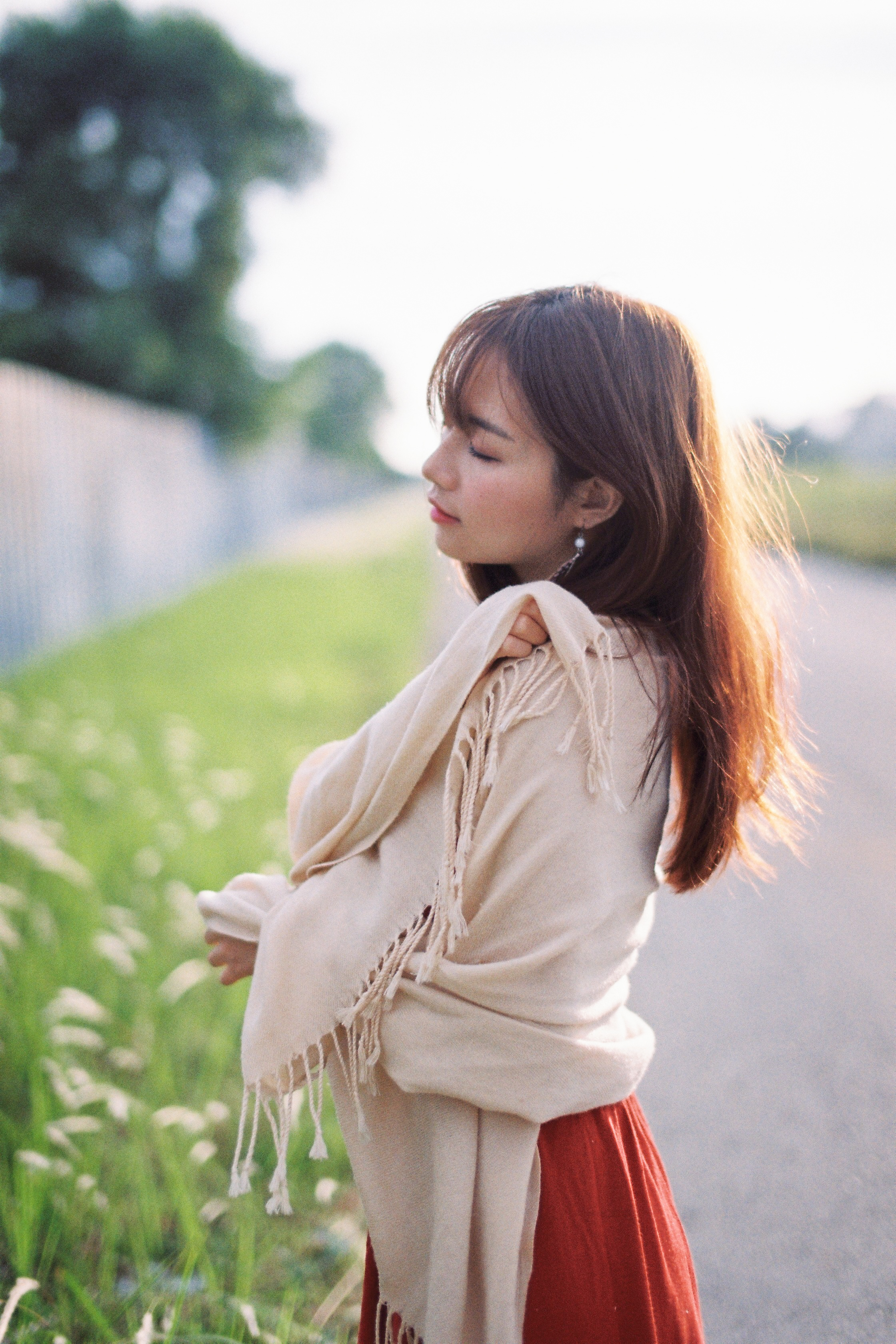 film portraiture in sunset in Malaysia