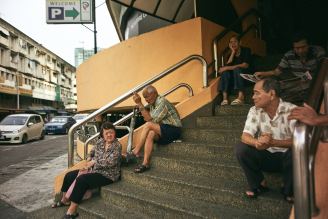 kuala lumpur street photography. stairs of the elders